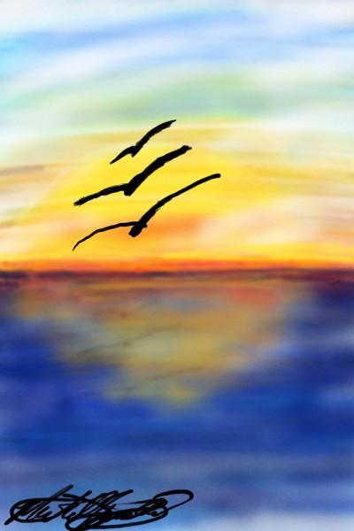 sunset | mburdick | Digital Drawing | PENUP