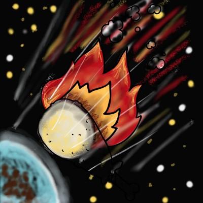 Meteorite? the last thing we need | lopz | Digital Drawing | PENUP