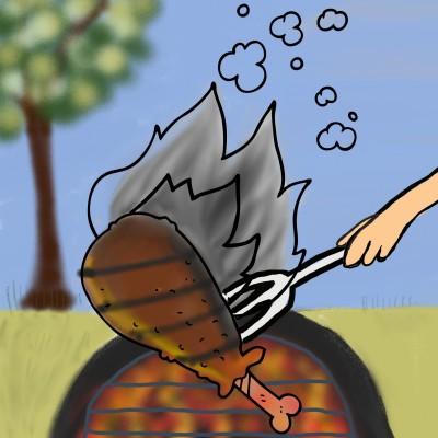 bbq chicken is ready | missT | Digital Drawing | PENUP
