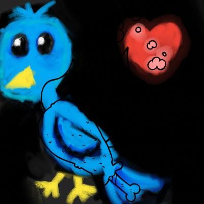 blue bird | Zenovia | Digital Drawing | PENUP