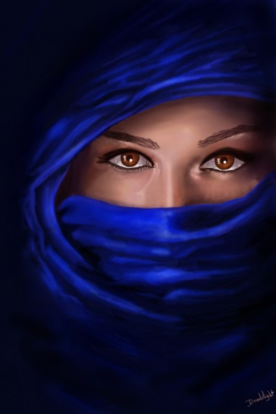 Voile bleu | Doodilight | Digital Drawing | PENUP