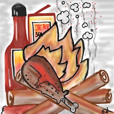 Jerk Chicken ! Ready! | kajunlynn | Digital Drawing | PENUP