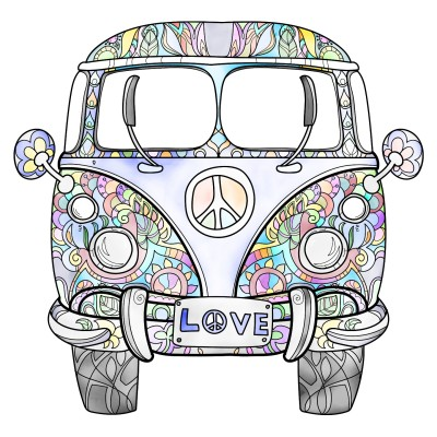Love & Peace  Bus | Trish | Digital Drawing | PENUP