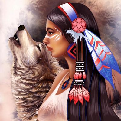 インディアン   しょうじょ | Gaycouple | Digital Drawing | PENUP