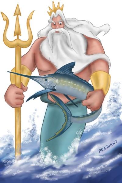 King Triton!! | Prashant | Digital Drawing | PENUP