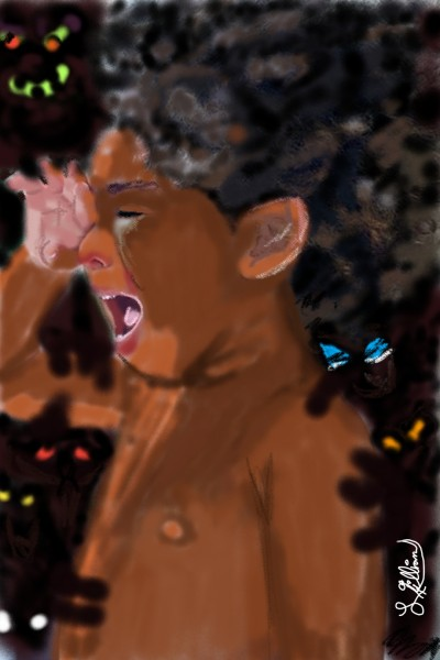 Who talks to the boy who talks to himself?   Blackmonday   Digital Drawing   PENUP