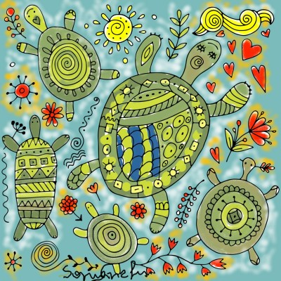 Coloring Digital Drawing | SMS | PENUP