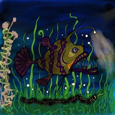 Creepy Lantern Fish | Jules | Digital Drawing | PENUP