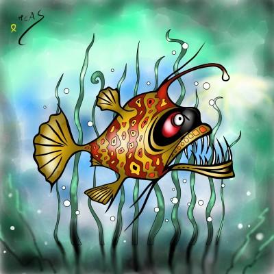 Peix llanterna    Carme   Digital Drawing   PENUP