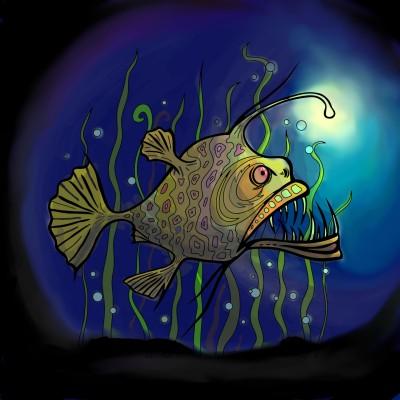 deep angry fish | Ru_ac | Digital Drawing | PENUP
