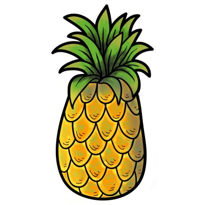 Pineapple | Jersam23 | Digital Drawing | PENUP
