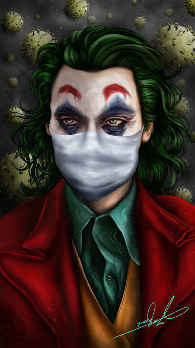 Joker Coronavirus version  | Yousif_Aqeel | Digital Drawing | PENUP