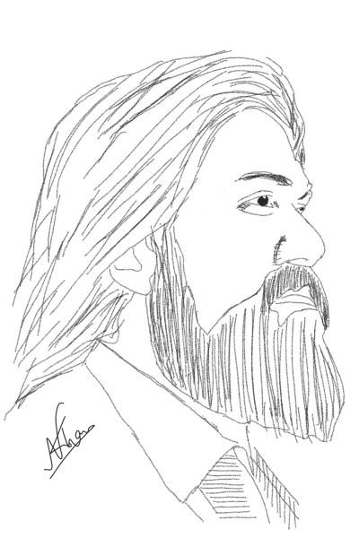 Portrait Digital Drawing | Er.Nasir.Khan | PENUP