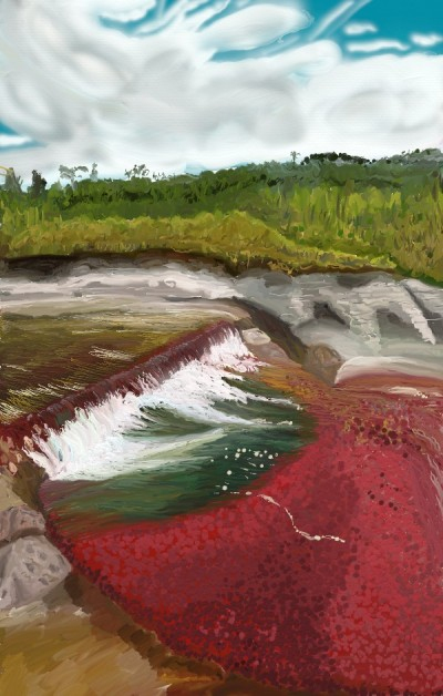 Caño Cristales River, Columbia | tinie | Digital Drawing | PENUP