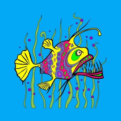 Fish are biting.  | thehappylemon | Digital Drawing | PENUP