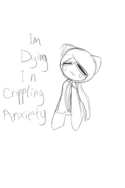 Dying In Crippling Anxiety | GrapePanta | Digital Drawing | PENUP