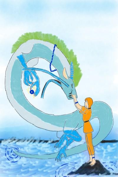River Dragon   berry_boy   Digital Drawing   PENUP