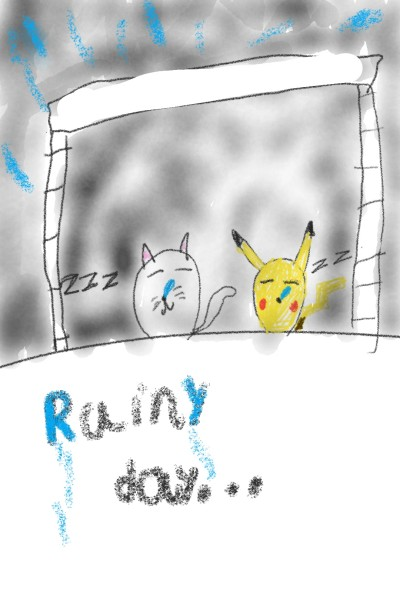 A rainy day | Jakin10 | Digital Drawing | PENUP