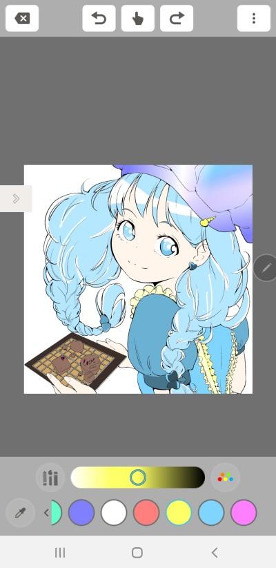 그냥 색칠만 함 (앱:MediBangColorS) | Yuka | Digital Drawing | PENUP