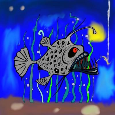 fishing fish | Ricky_D | Digital Drawing | PENUP