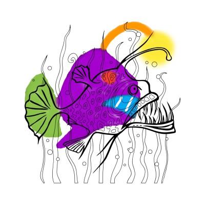 Fish showing more than you think | YP-Bawoo | Digital Drawing | PENUP