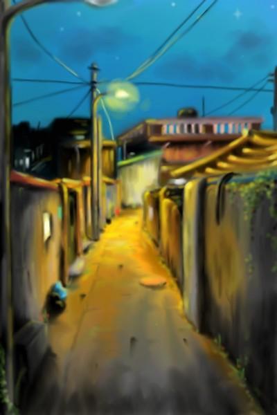 #새벽녘. | ANEs. | Digital Drawing | PENUP