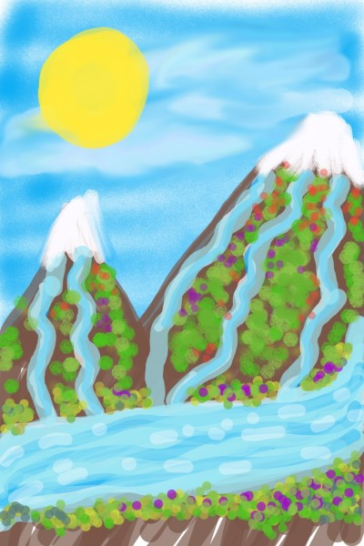 Rivers give life   Chim   Digital Drawing   PENUP