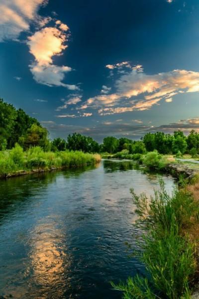 beautifull river sunset | andrea | Digital Drawing | PENUP
