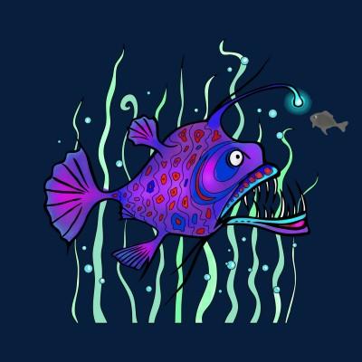 deep sea fish   Diana   Digital Drawing   PENUP