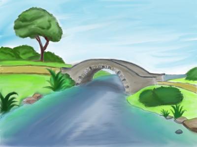 River Bend Bridge | stylinrenee | Digital Drawing | PENUP