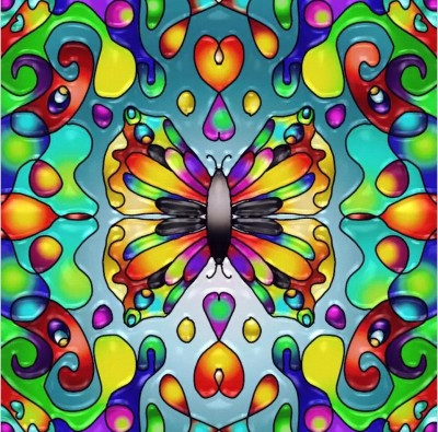 Psychedelic Butterfly | Charldia | Digital Drawing | PENUP