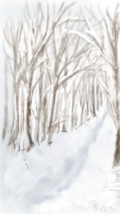 Snowing  | RezaDadkhah | Digital Drawing | PENUP