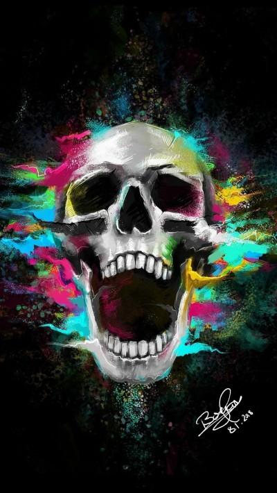 Beaming Skull | Templejax303 | Digital Drawing | PENUP