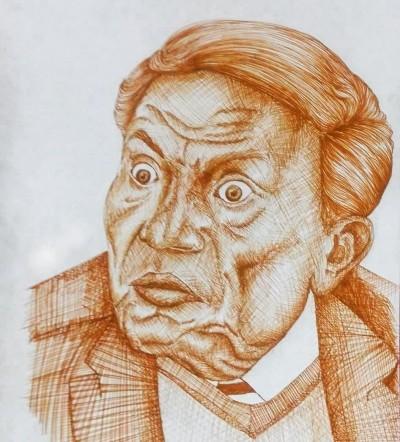 عادل إمام ... الزعيم | Amr.Abdelhakeem | Digital Drawing | PENUP