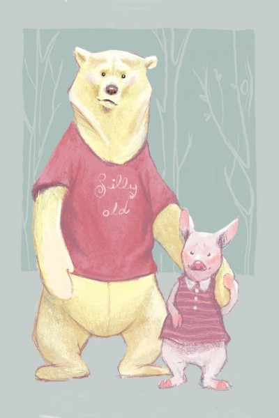 silly old bear and friend  | Miss.Saario | Digital Drawing | PENUP