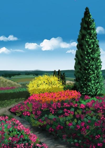 Landscape Digital Drawing | FatemaMusharrof | PENUP
