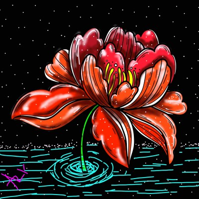 flower in snow  | AZR | Digital Drawing | PENUP