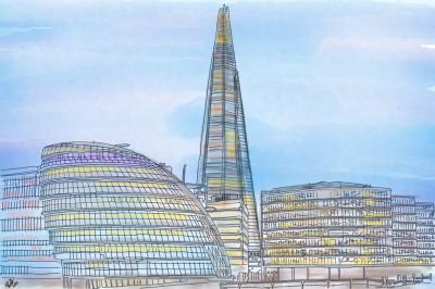 The Shard of Glass, Shard London | StevenCarroll | Digital Drawing | PENUP