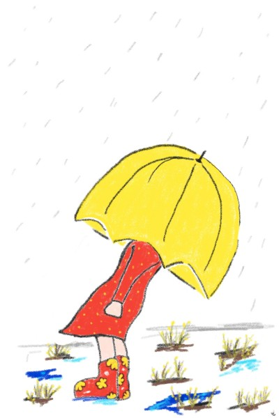 The Yellow Umbrella  | KarenC | Digital Drawing | PENUP