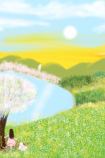 102.꽃밭에서 봄과함께 | youngsook | Digital Drawing | PENUP