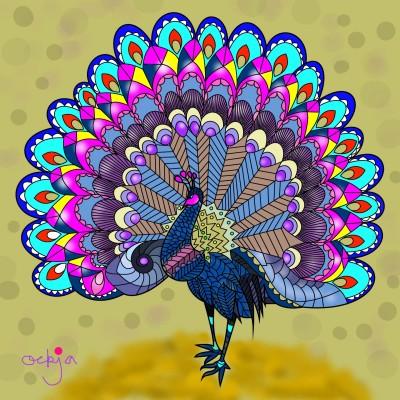 a peacock dance♡ | ockja | Digital Drawing | PENUP