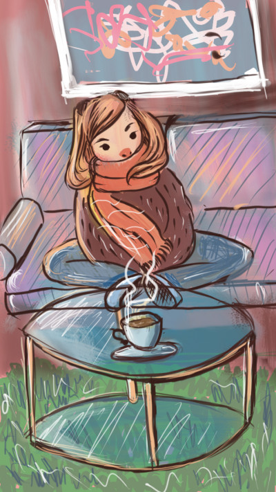 cold winter hot coffee | w3tza | Digital Drawing | PENUP