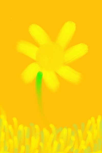Yellow Flower  | Morejon | Digital Drawing | PENUP