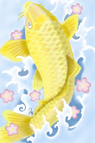 Yellow Koi | Rabbitee | Digital Drawing | PENUP