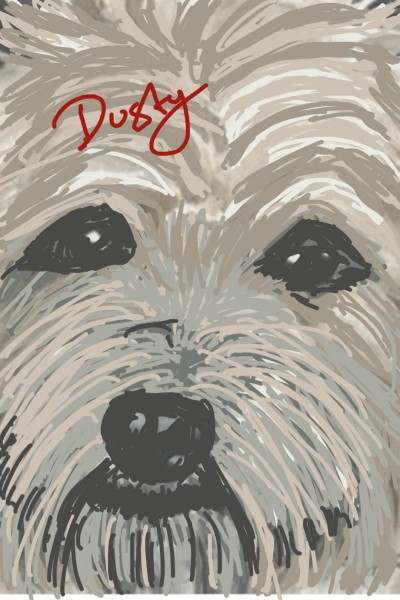 little dog | dusty | Digital Drawing | PENUP