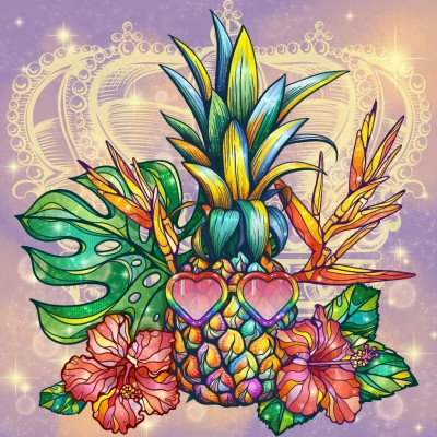 Pineapple | Gaycouple | Digital Drawing | PENUP