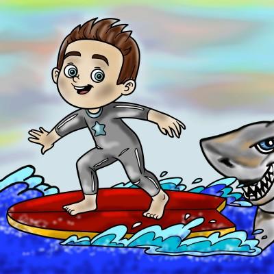 SHARK! | SummerKaz | Digital Drawing | PENUP