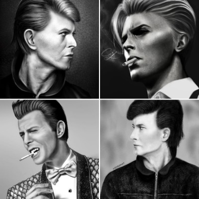 Bowie Portrait Challenge  | TonyFarvio | Digital Drawing | PENUP