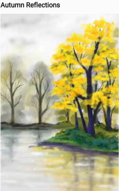 Autumn Reflections  | MonSouhait | Digital Drawing | PENUP