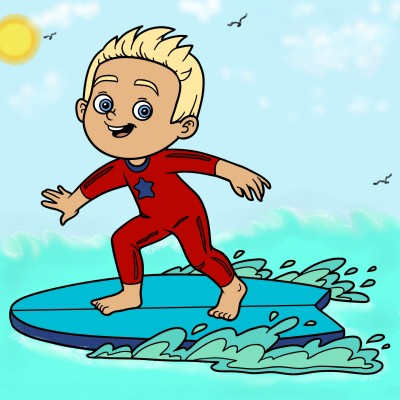 SeAn THe SuRfeR | Mrs.B | Digital Drawing | PENUP